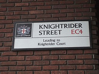 Knightrider Street sign, London