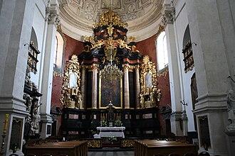 Saints Peter and Paul Church, Kraków - Image: Kościół ŚŚ Piotra i Pawła w Krakowie Ołtarz Główny