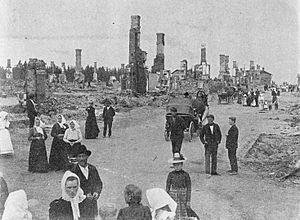 Battle of Vyborg - Kolikkoinmäki neighbourhood was destroyed by artillery fire.