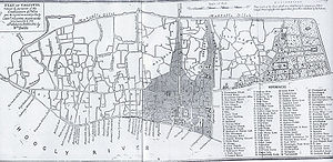 Maratha Ditch - Lt. Col Mark Wood's Map of Kolkata in 1784-85 showing the extent of the Maratha Ditch