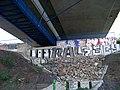 Komořany, Radotínský most, konec, z cyklostezky.jpg