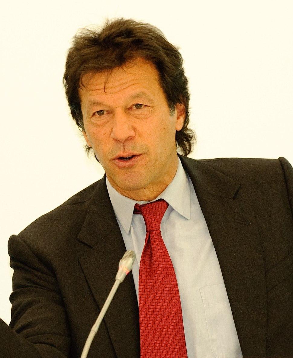 Konferenz Pakistan und der Westen - Imran Khan (cropped)