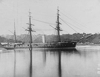 Japanese ironclad Kongō - Image: Kongo(1878)