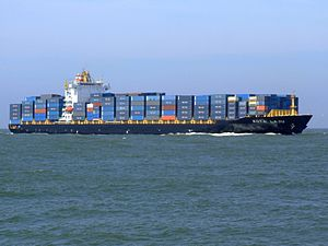 Kota Laju p04 approaching Port of Rotterdam, Holland 19-Apr-2007.jpg