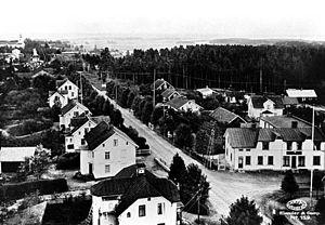 Kumla - Image: Kumla view cirka 1920