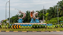 A roundabout in Kunak town.