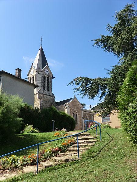 L'église de Civrieux.
