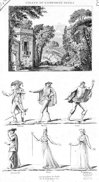 L'irato - Set and costume designs, 1801