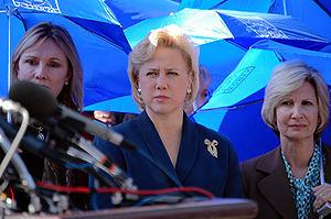 Mary Landrieu - Sen. Landrieu (center) joins Women of the Storm from the Gulf Coast