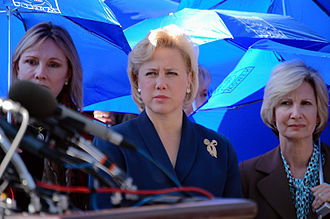 Mary Landrieu - Sen. Landrieu (center) joins Women of the Storm from the Gulf Coast