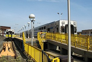 Long Island City (LIRR station) - Image: LIC LIRR trains jeh