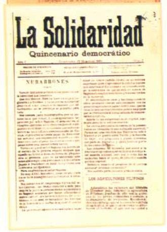 José María Panganiban - La Solidaridad
