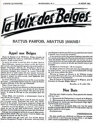 La Voix des Belges - Image: La Voix des Belges 10 Août 1941