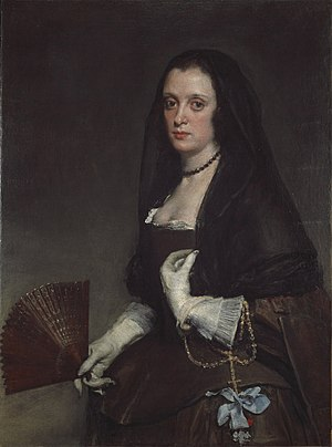 Marie de Rohan - Velázquez's ''The Lady with a Fan'' is purported to be a likeness of the duchess, although the features of the sitter differ remarkably from other extant portraits of Marie Aimée.