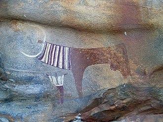 Laas Geel - Image: Laas Geel cow and human