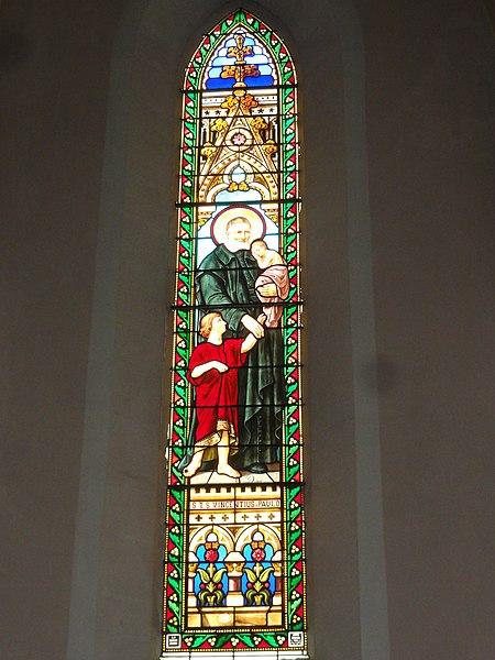 Labenne (Landes) église Saint Nicolas, vitrail 04