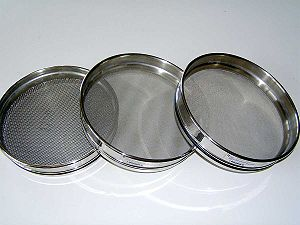 Sieve analysis - Sieves used for gradation test.