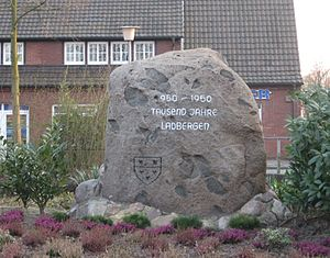 Ladbergen - 950 - 1950, 1000 years-stone, Ladbergen.