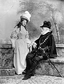 Lady (Susan Elizabeth) Clementine Waring (née Hay) as Valentina; William Montagu Hay, 10th Marquess of Tweeddale as St Bris (Les Huguenots).jpg