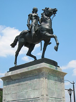 Lafayette statue, Mount Vernon Place, Baltimore, MD.jpg