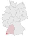 Lage des Landkreises Loerrach in Deutschland grey.png