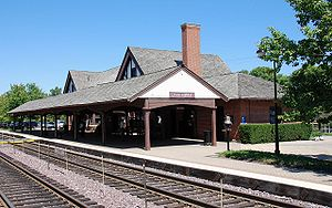 Lake Forest station (Union Pacific) - One of two Lake Forest Metra Stations