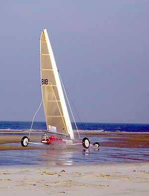 Wind-powered vehicle - A Belgian Class 3 competition land yacht
