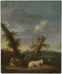 Landscape with Sheep and a Sleeping Shepherd (Adriaen van de Velde) - Nationalmuseum - 17670.tif