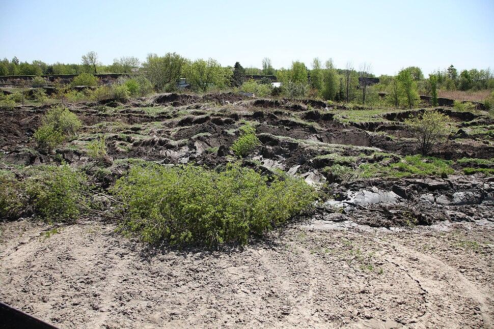 Landslide, Saint-Jude, Les Maskoutains, Quebec, Canada - 20100511