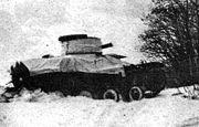 Landsverk L-120 during Norwegian winter exercise