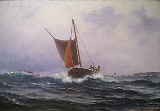 Norwegian Maritime Museum - Image: Lars Lauritz Larsen Haaland Fiskere Ved Kvitsøy IMG 9359