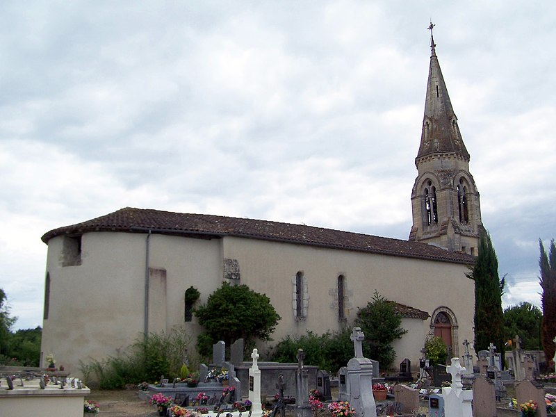 Church Saint-Étienne of Lavazan (Gironde, France)