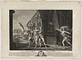 Le Tombeau de Voltaire by Charles Macret, with figures of Benjamin Franklin, Jean le Rond d'Alembert, and Catherine II, 1789, engraving on paper - from the National Portrait Gallery - NPG-NPG 97 62.jpg