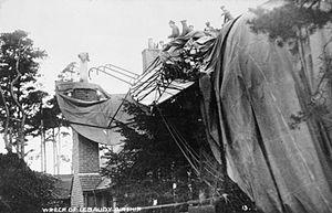 Lebaudy Morning Post - Wreck of the Morning Post at Farnborough