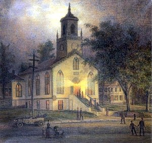 William Moore Davis - Image: Lecture night at the Baptist Church, Port Jefferson