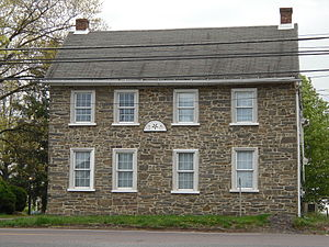 Lower Salford Township, Montgomery County, Pennsylvania - An old stone house in Lederach in Lower Salford Township