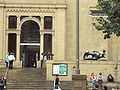 Leeds City Art Gallery entrance and Henry Moore sculpture, The Headrow - DSC07721.JPG