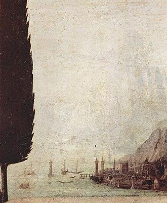 Annunciation (Leonardo) - Image: Leonardo da Vinci 059