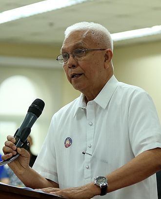 Leoncio Evasco Jr. - Evasco in 2016, addressing employees of the Malacañang Palace