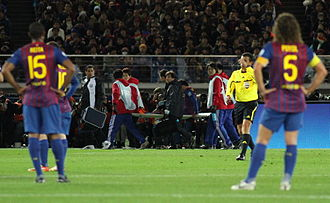 David Villa - Villa's season comes to an end as he's carried off on a stretcher after breaking his tibia at the 2011 FIFA Club World Cup.