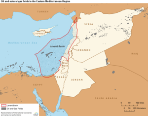 Levantine Sea - Boundaries of the Levant Basin, or Levantine Basin (US EIA)