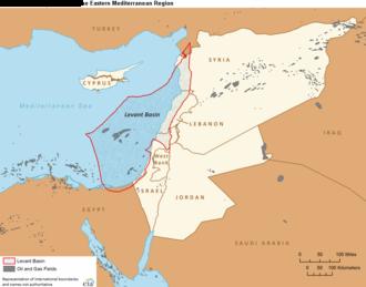 Levantine Sea - Boundaries of the Levant Basin, or Levantine Basin (US EIA)
