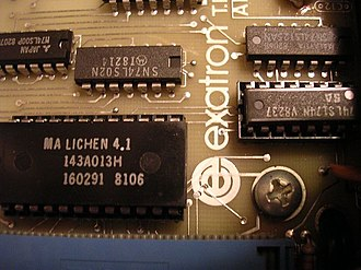 """Li-Chen Wang - Note the """"LICHEN"""" (Li-Chen) marked on this Exatron ROM produced for the TRS-80 Model 1 Exatron Stringy Floppy drive"""