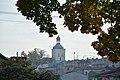Lidzbark,Kościół św.Wojciecha widok z u. Mikołaja Kopernika.jpg