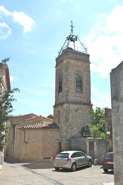 Lieuran-Cabrières (Hérault) - clocher de l'église Saint-Martin