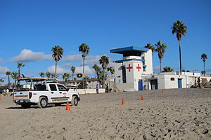 Lifeguard Tower in Ocean Beach, California