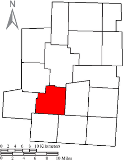 Location of Lincoln Township in Morrow County