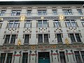 Lindenbaum house. Art Noveau, listed monument apartment building. ID 8146. Special, colourful facade elements. - Budapest District VI., Izabella street 94.JPG