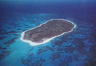 Lisianski Island - View of Lisianski from the air.