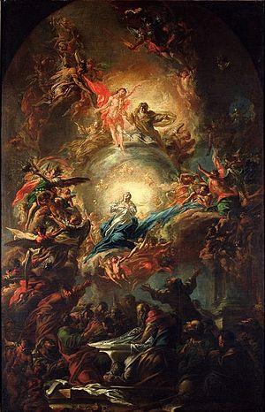 Jan Kryštof Liška - Assumption of Mary (1696). National Gallery in Prague